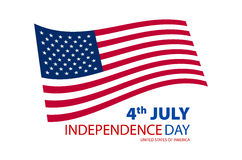 Happy independence day United States of America, 4th of July card with flat design. Art Stock Photo