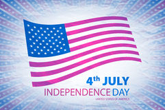 Happy independence day United States of America, 4th of July card with flat design Royalty Free Stock Images