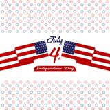 Happy independence day United States of America, 4th of July card with Star, Flag flat design. Happy independence day United States of America, 4th of July card Royalty Free Stock Image