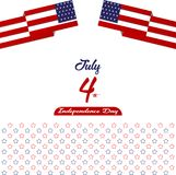 Happy independence day United States of America, 4th of July card with Star, Flag flat design. Happy independence day United States of America, 4th of July card Royalty Free Stock Photography