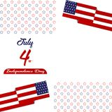 Happy independence day United States of America, 4th of July card with Star, Flag flat design. Happy independence day United States of America, 4th of July card Royalty Free Stock Photos