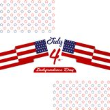 Happy independence day United States of America, 4th of July card with Star, Flag flat design. Happy independence day United States of America, 4th of July card Royalty Free Stock Photo