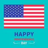 Happy independence day United states of America. 4th of July. Card. Vector illustration Stock Photos