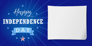 Happy Independence Day USA banner Royalty Free Stock Photos
