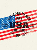 Happy Independence Day. USA Celebration Rough Vector Illustration Design Element Concept Stock Photos