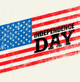 Happy Independence Day. USA Celebration Rough Vector Illustration Design Element Concept Royalty Free Stock Image