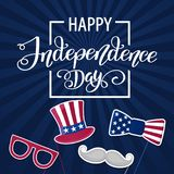 Happy Independence Day USA. Fourth of July. Patriotic attributes, party invitation. Vector illustration EPS10.  stock illustration