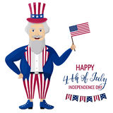 Happy Independence Day USA. Fourth of July. Patriotic attributes, party invitation. Vector illustration EPS10 Stock Image