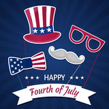 Happy Independence Day USA. Fourth of July. Patriotic attributes, party invitation. Vector illustration EPS10 Royalty Free Stock Photos