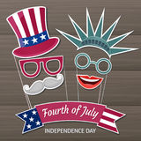 Happy Independence Day USA. Fourth of July. Patriotic attributes, party invitation. Vector illustration EPS10 Stock Photo