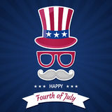 Happy Independence Day USA. Fourth of July. Patriotic attributes, party invitation Stock Image