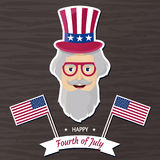 Happy Independence Day USA. Fourth of July. Patriotic attributes, party invitation. Vector illustration EPS10 Royalty Free Stock Images
