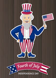 Happy Independence Day USA. Fourth of July. Patriotic attributes, party invitation Stock Photo