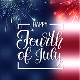 Happy Independence Day USA. Fourth of July. Patriotic attributes, party invitation. Vector illustration EPS10.  vector illustration