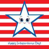 Happy Independence Day USA! Greeting card. Royalty Free Stock Photos