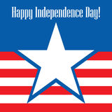 Happy Independence Day USA! Greeting card. Stock Photography