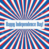 Happy Independence Day USA! Greeting card. Royalty Free Stock Image