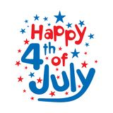 Happy independence day of USA. 4th of july ,independence day of USA design vector Stock Images