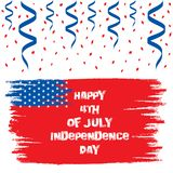 Happy independence day of USA. Independence day of USA ,4th of july greeting card, national flag design Stock Photography