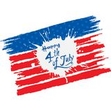 Happy independence day of USA. 4th of july USA independence day greeting card, national flag design Stock Photo
