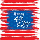Happy independence day of USA. 4th of july USA independence day greeting card, national flag design Stock Photography