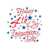 Happy independence day of USA. 4th of july USA independence day greeting card, national flag design Royalty Free Stock Photography