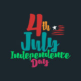 Happy independence day USA, 4th of July. Happy independence day USA, vector illustration eps10 Royalty Free Stock Photos
