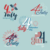 Happy independence day USA, 4th of July. Happy independence day USA, vector illustration eps10 Stock Photo