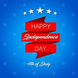 Happy Independence Day! vector illustration on blue background. The 4th of July. Happy Independence Day! vector illustration on blue background with stars. The vector illustration
