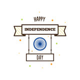 Happy Independence Day. Vector illustration. Indian holiday Royalty Free Stock Photos