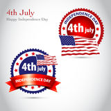Happy Independence Day vintage background with rib Stock Photo