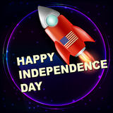 Happy independence day vintage illustration. Royalty Free Stock Image