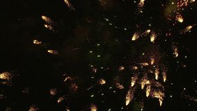 Happy Independence Fireworks stock video footage