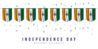 Happy India Independence Day Vector Design Illustration. Happy India Independence Day Vector Template Design Illustration royalty free illustration