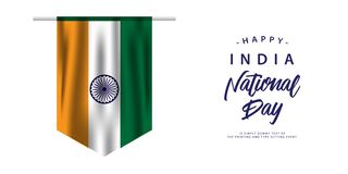 Happy India National Day Vector Design Illustration. Happy India National Day Vector Template Design Illustration stock illustration