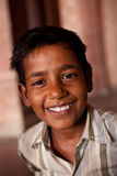Happy Indian boy near Agra Stock Image