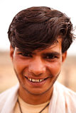 Happy Indian boy near Karauli in India Stock Photos