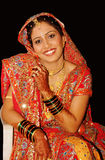 Happy Indian Bride Stock Photo
