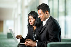Happy Indian Business team working together. Royalty Free Stock Image