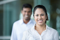 Happy Indian business woman Stock Photo