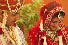 Happy Indian couple. At their wedding Royalty Free Stock Photos