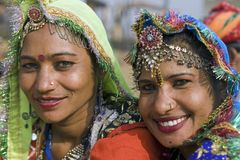 Happy Indian Dancers Stock Photo
