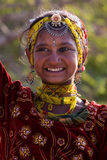 Happy Indian dancing girl Royalty Free Stock Images