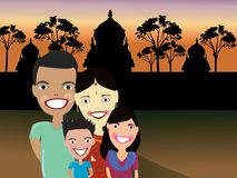Happy Indian family Stock Photo