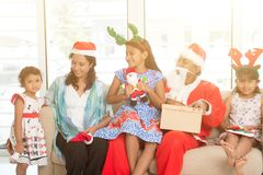 Indian family and Merry Christmas Stock Photography