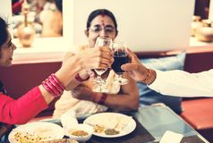 A happy Indian family spending time together Stock Photo