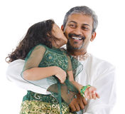 Happy Indian father and daughter Royalty Free Stock Image
