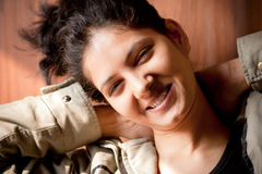 Happy Indian girl Stock Image