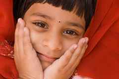 Happy Indian Girl Royalty Free Stock Images
