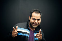 Happy Indian man pointing at you Royalty Free Stock Images